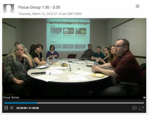 Focus groups were organized by their intended web audience.